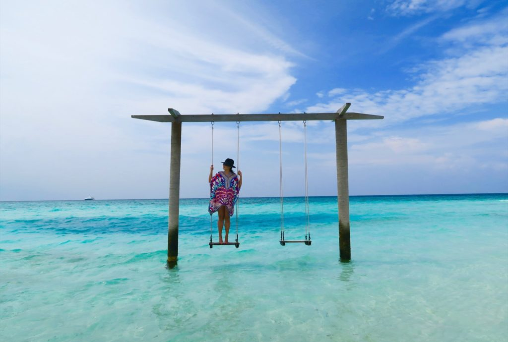 Swing set by the sea. Anantara Veli Maldives