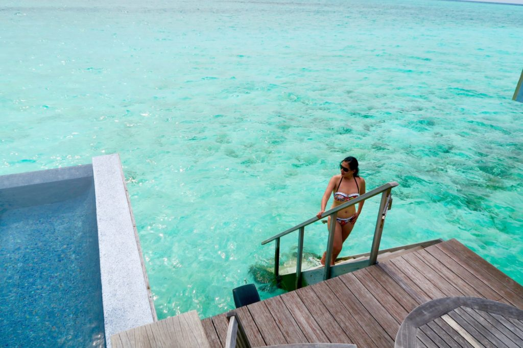 The daily struggle: Pool or the Ocean? Deluxe Overwater Pool Bungalow , Anantara Veli Maldives