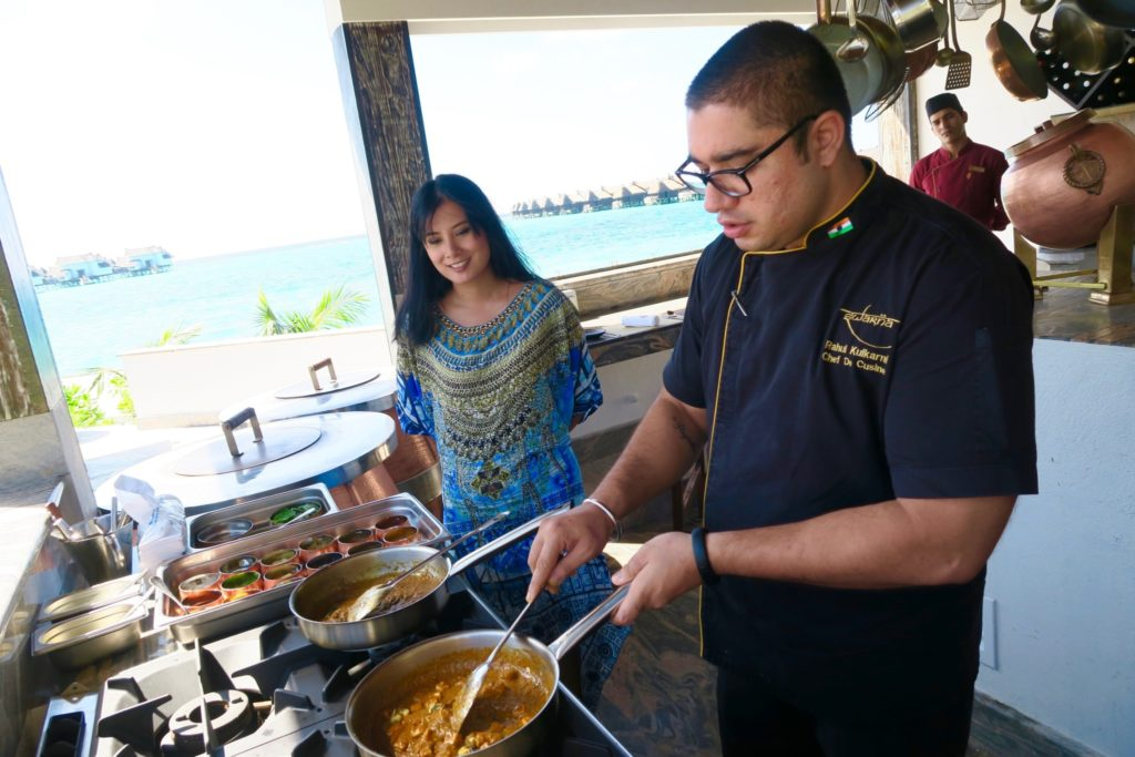 Learning to cook Indian cuisine from scratch with Chef Rahul Kulkarni at Swarna Restaurant, Jumeirah Vittaveli