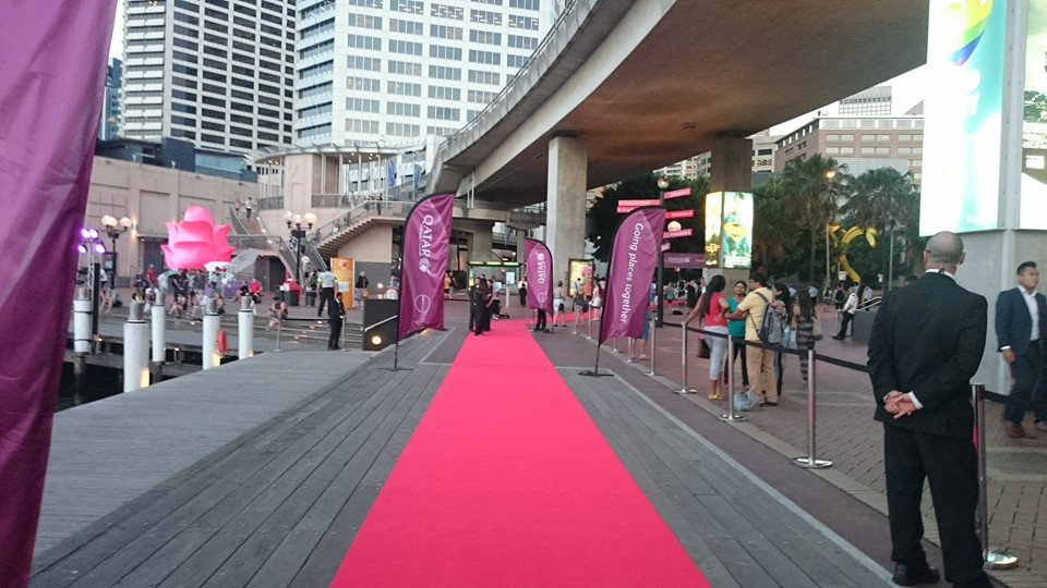 QR Darling Harbour Red Carpet
