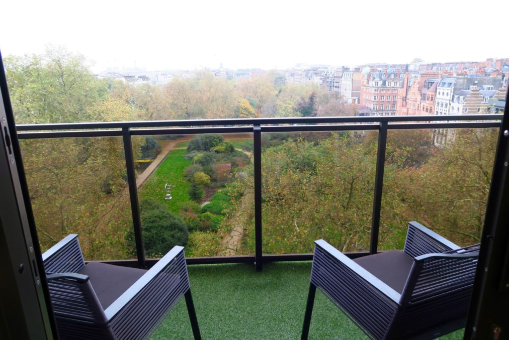 View of Cadogan Gardens from Deluxe Balcony Room of Jumeirah Carlton Tower