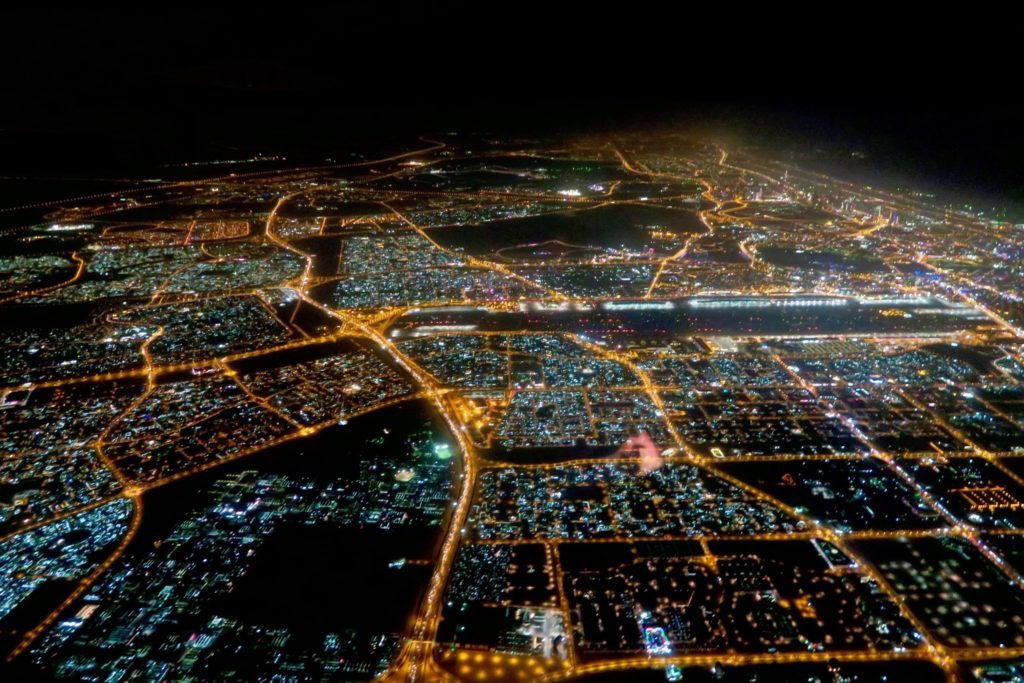 Approaching Dubai. Or is that an electric circuit board?