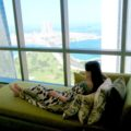 Views from Jumeirah at Etihad Towers , 4nd level. Deluxe King Room