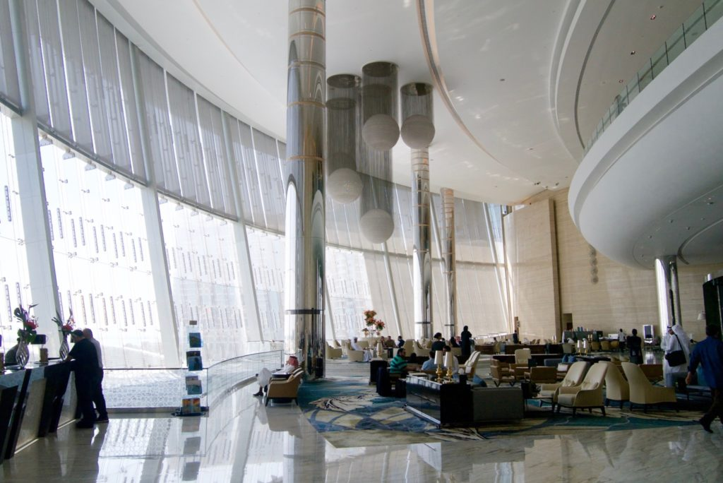 Lobby and reception of Jumeirah at Etihad Towers
