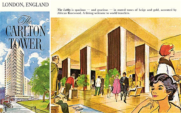 1961 Brochure of The Carlton Tower. Photo from thetelegraph.co.uk