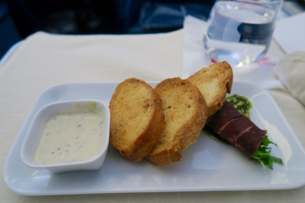 Delta Business Class Lunch Starter