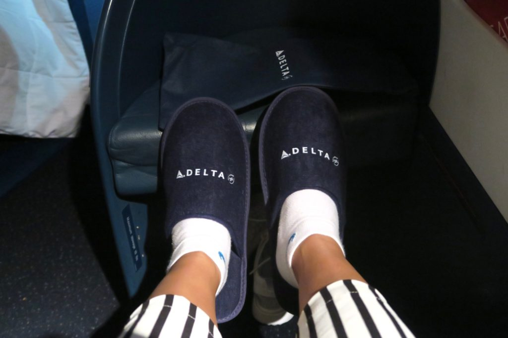 Delta One InFlight Slippers! Sydney to Los Angeles