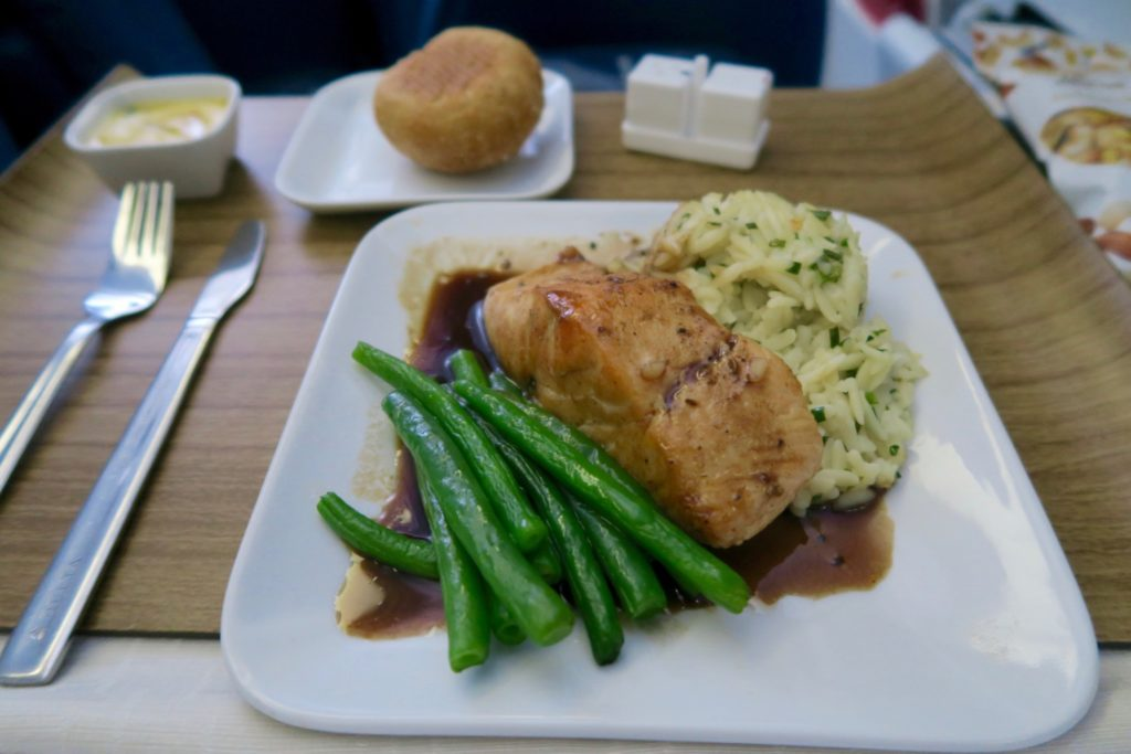 Delta One Lunch Entree Sydney to Los Angeles
