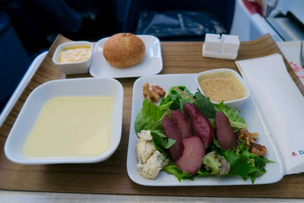 Delta One Business Class Sydney to Los Angeles Menu Lunch