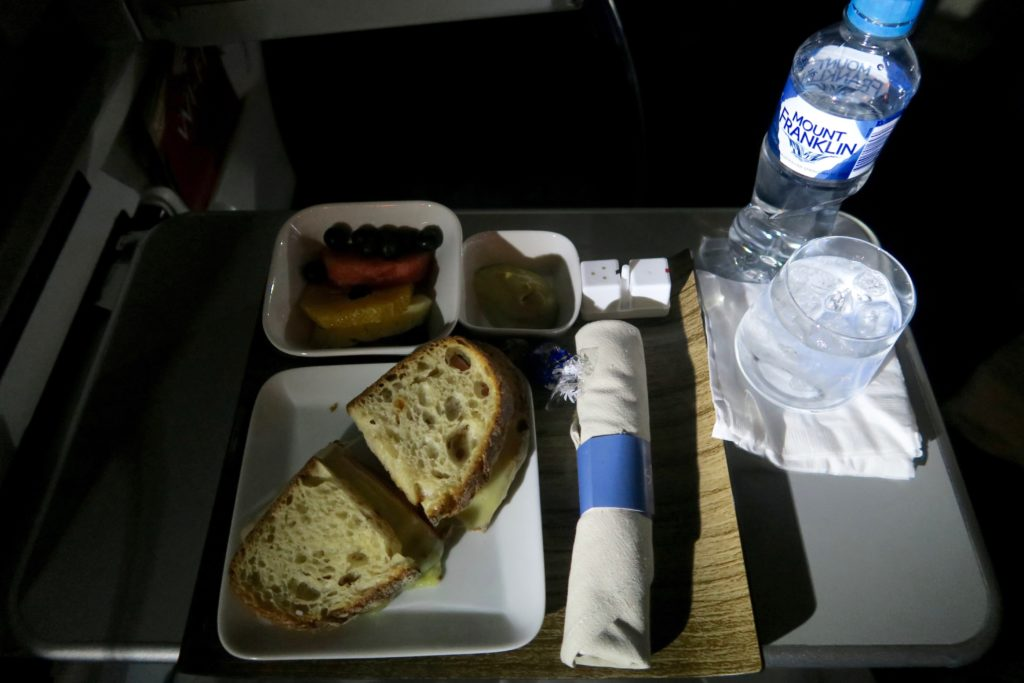 Delta One Business Class Mid-Flight Snack