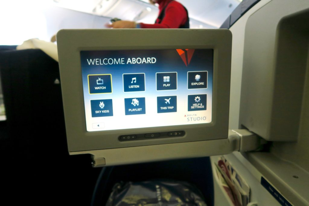 Delta Studio Entertainment System Business Class Sydney to Los Angeles