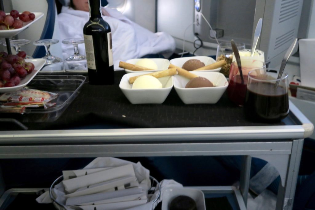 Dessert Trolley Delta One Buiness Class Sydney to Los Angeles