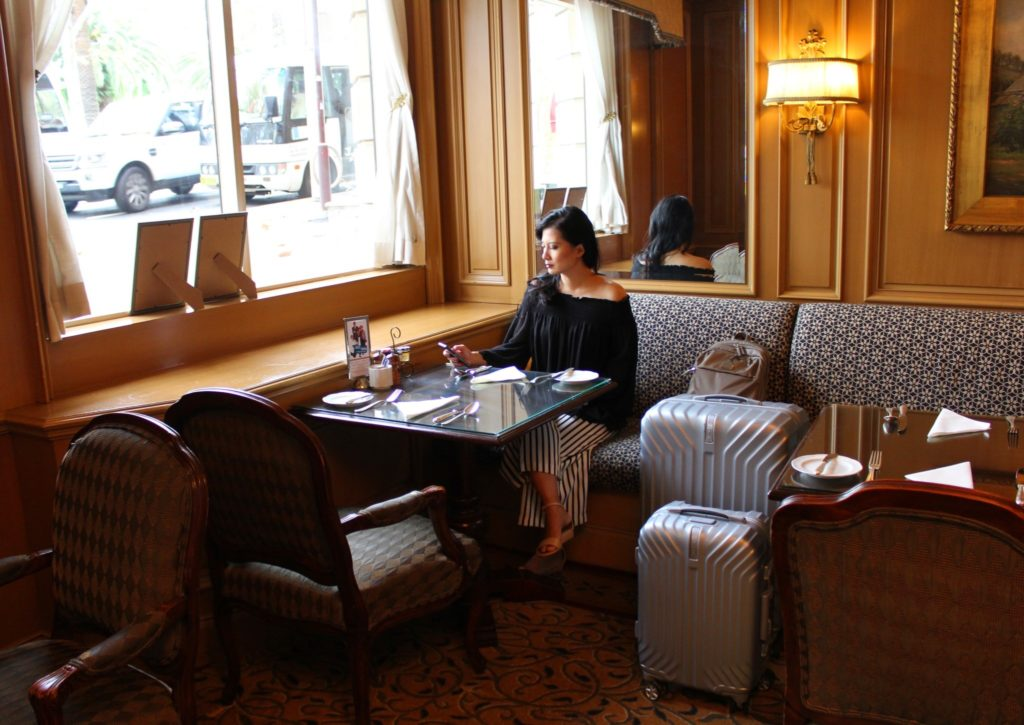 Travel planning at The Dining Room, Sir Stamford at Circular Quay
