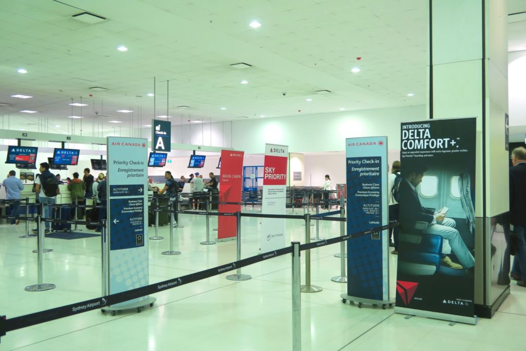Sydney Airport, Delta Airlines Check-in Desks