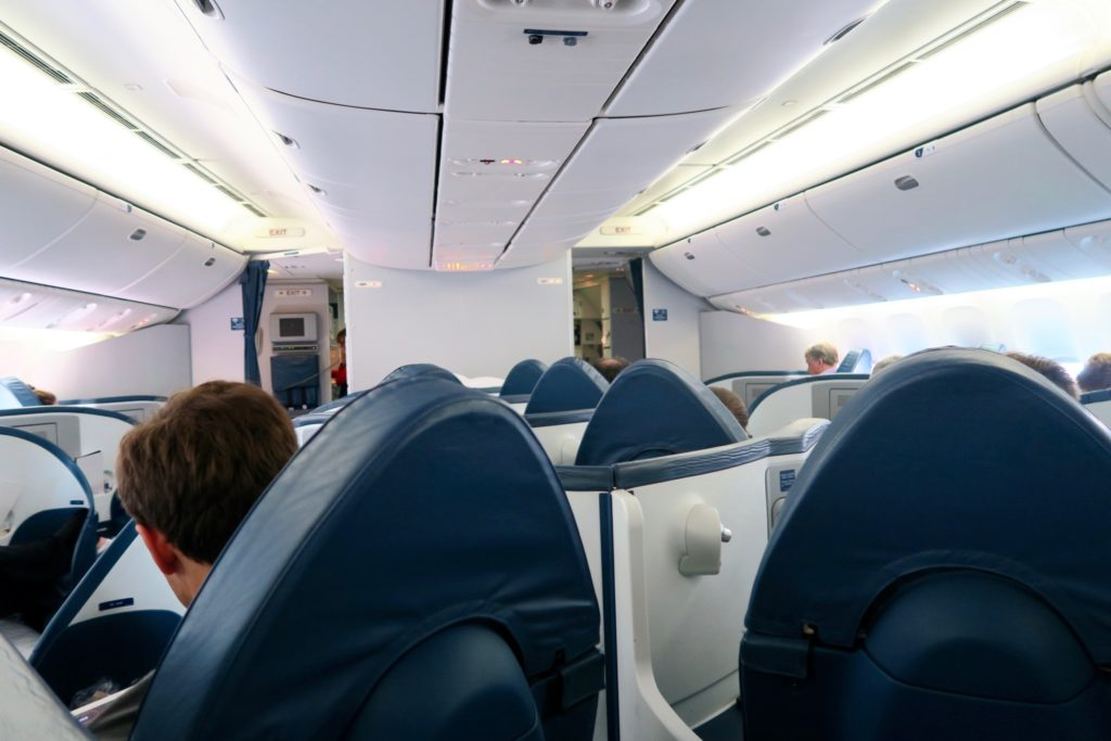 Delta One Business Class Cabin Sydney to Los Angeles