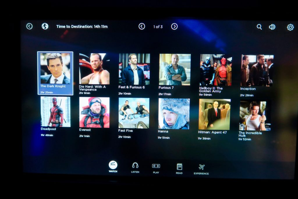 Entertainment System Virgin Australia Business Suites
