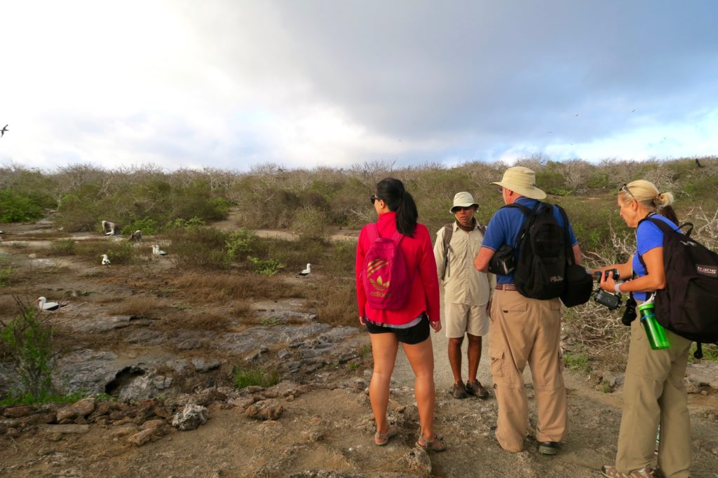 Our Ecoventura Group exploring Genovesa Island