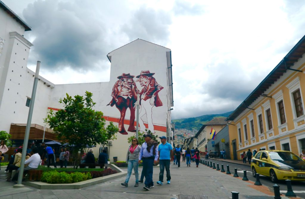 Street art in Quito