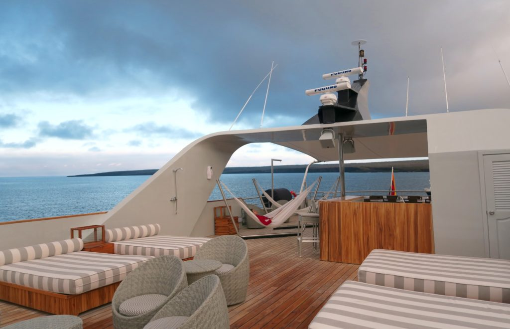 Sundeck of Ecoventura's MV Origin