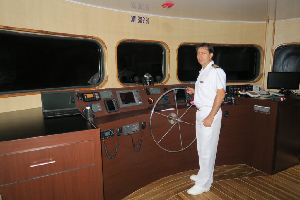 Our Captain Pablo at the Bridge of MV Origin