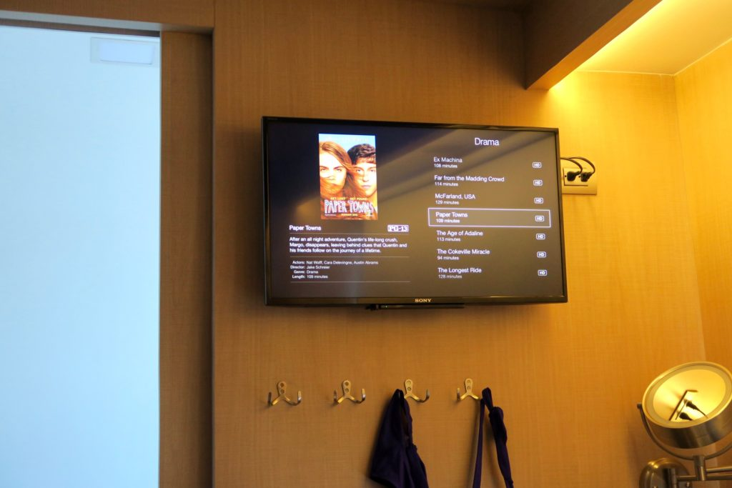 Staterooms at the MV Origin are equipped with Apple TV and movies