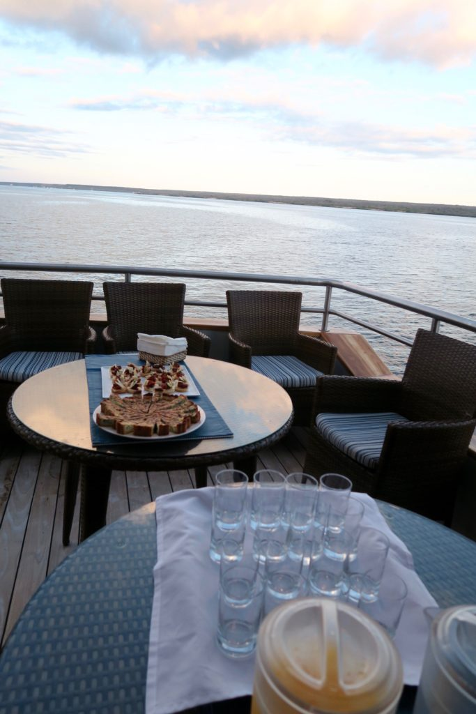 Refreshments onboard after every activity
