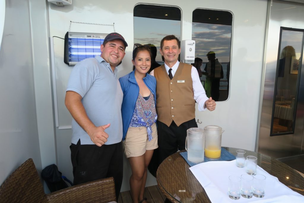 F&B crew of Ecoventura's MV Origin