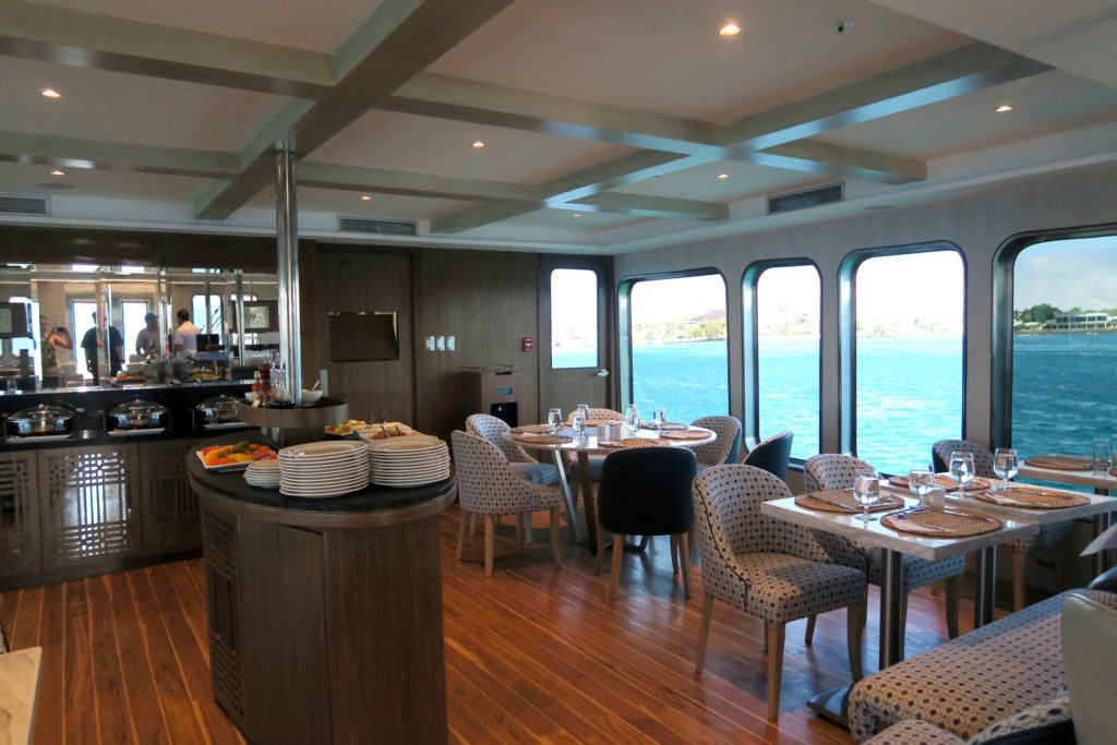 Dining are of Ecoventura's MV Origin