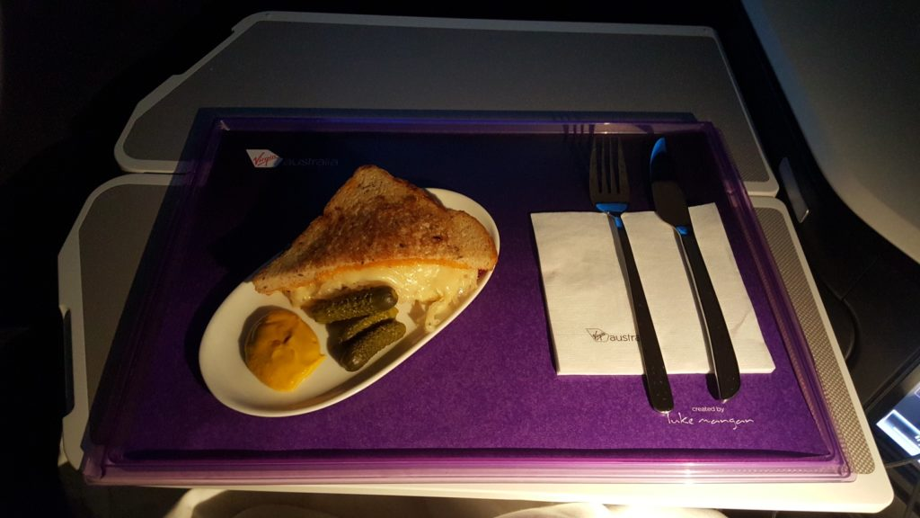 From the Pantry Menu of Virgin Australia Business Class VA 2 B777-300