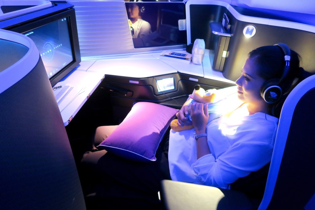VA 2 Los Angeles to Sydney on the new Business Class Suites B777-300