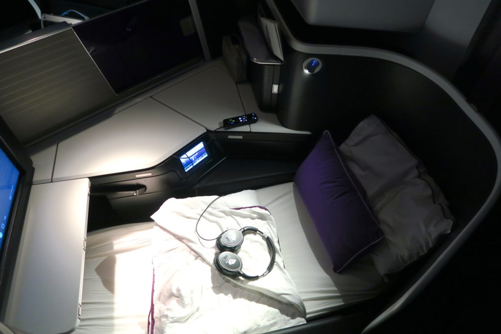 Virgin Australia Business Class Suites Bed