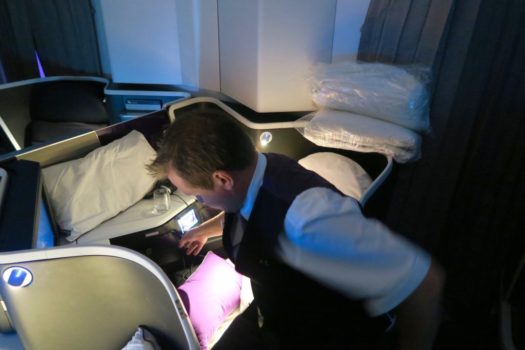 Virgin Australia Business Class turn down service