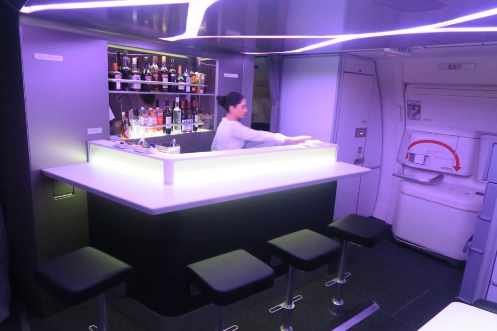 In-flight Bar, Virgin Australia Business Class VA 2 Los Angeles to Sydney B777-300