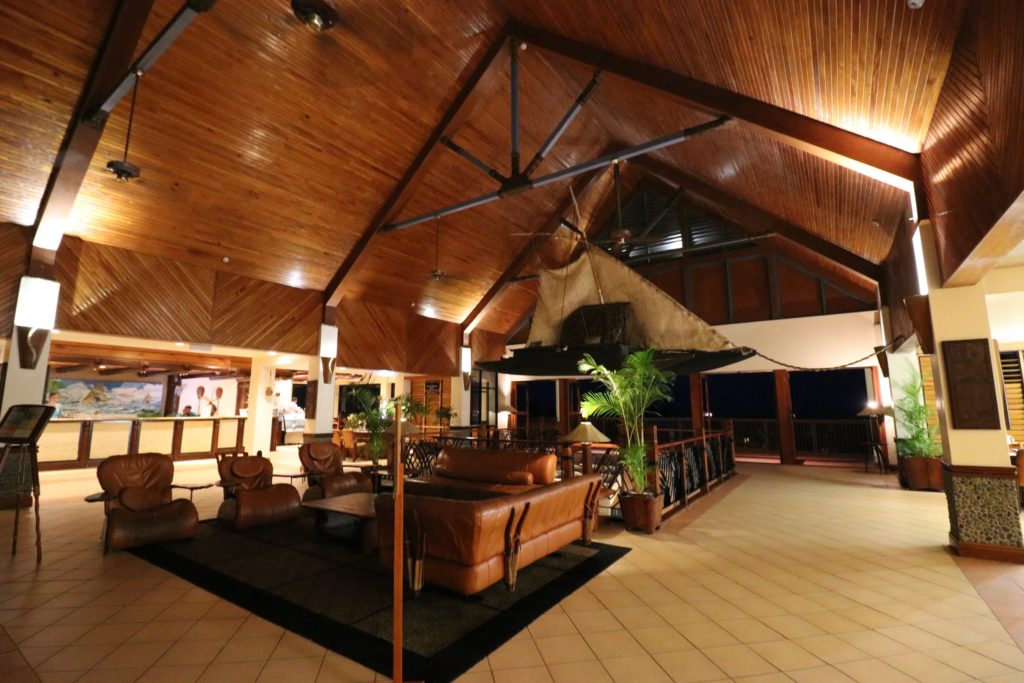 Lobby of utrigger Fiji Beach Resort