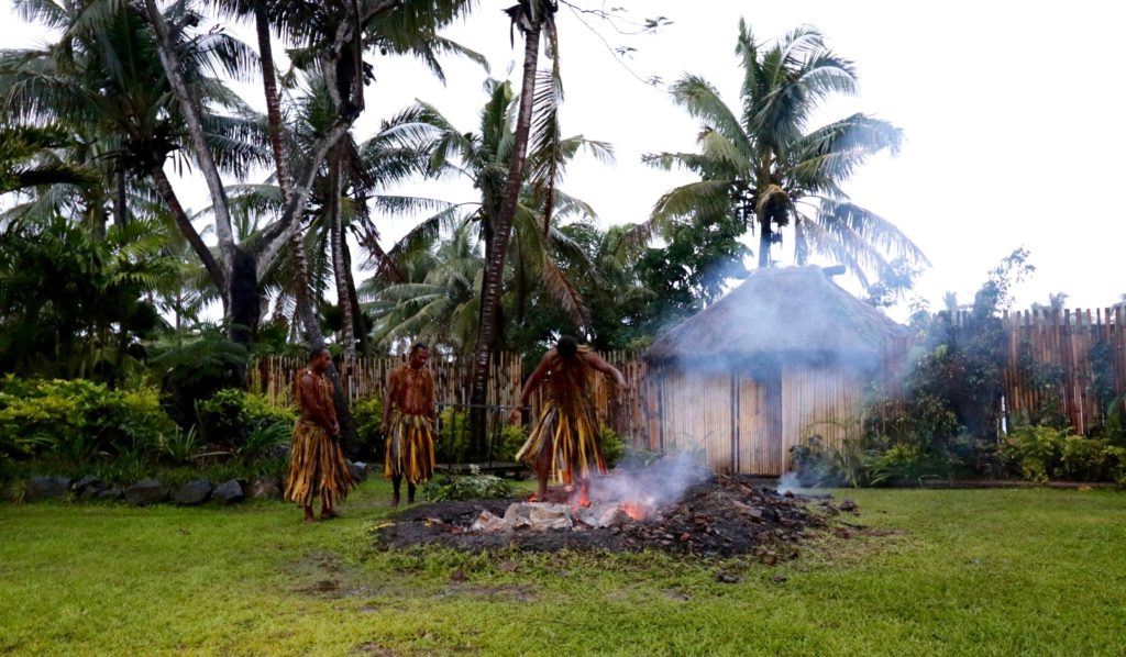 Fire Walking Ceremony at the Outrigger Fiji Resort