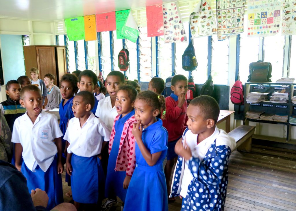 The kids at Conua District School - Outrigger Fiji's Community Tourism Program