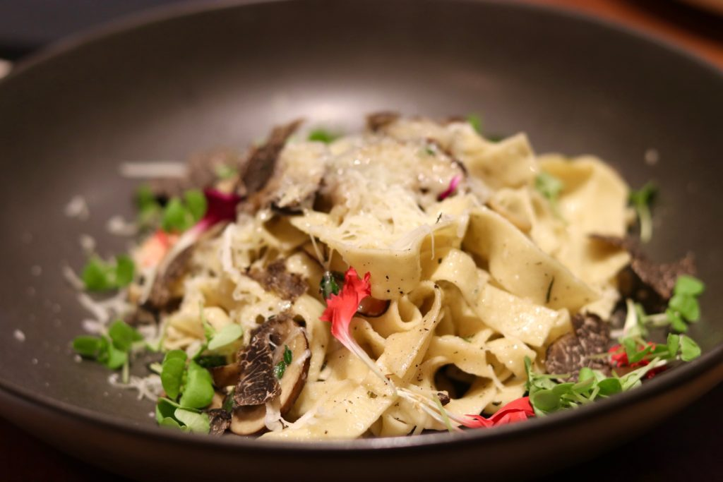 Tagliolini mixed mushrooms thyme truffle and pecorino