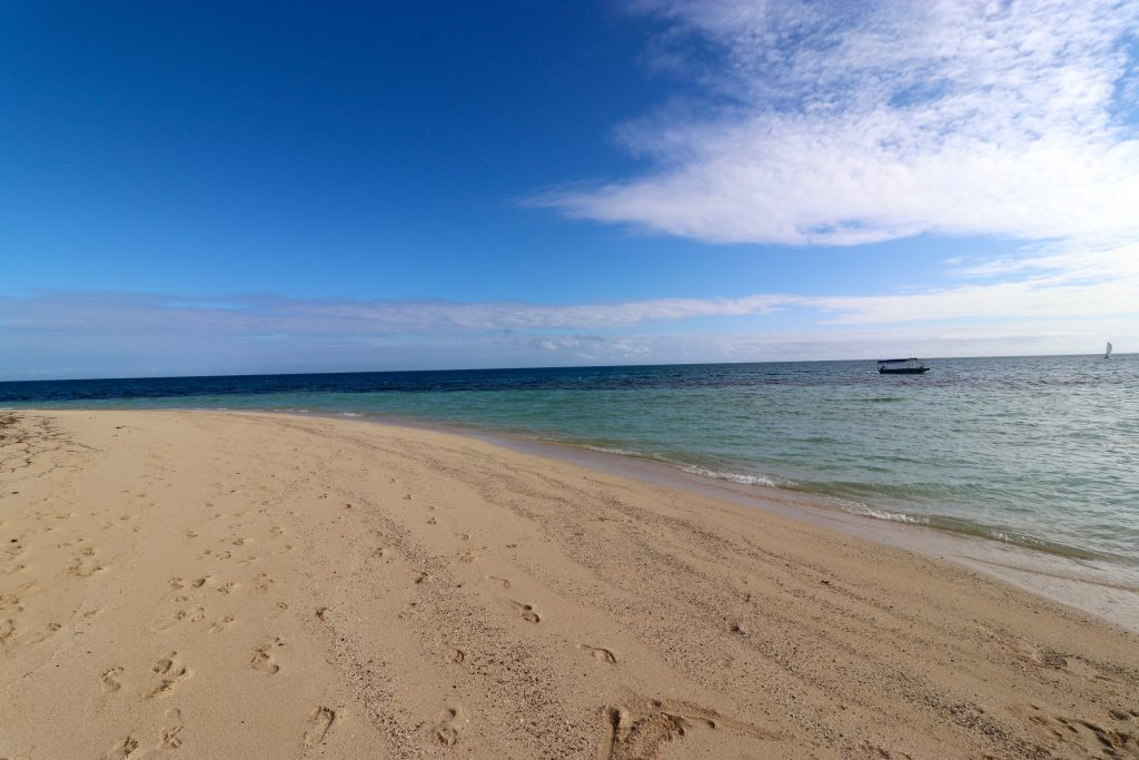 The beach of Castaway Island Fiji