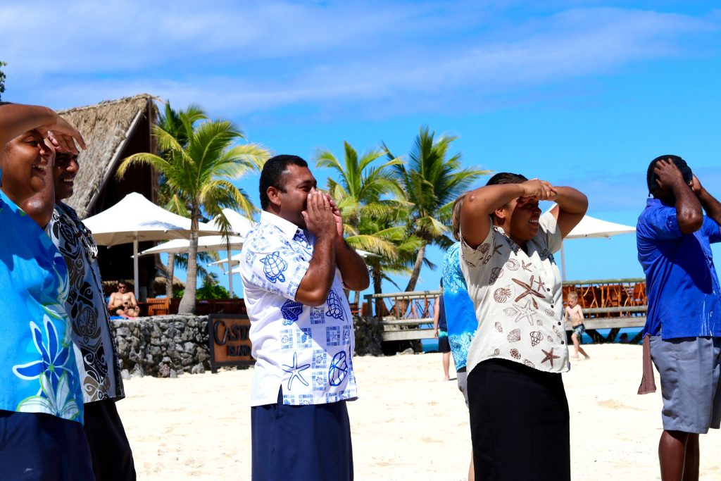 The staff of Castaway Island Fiji