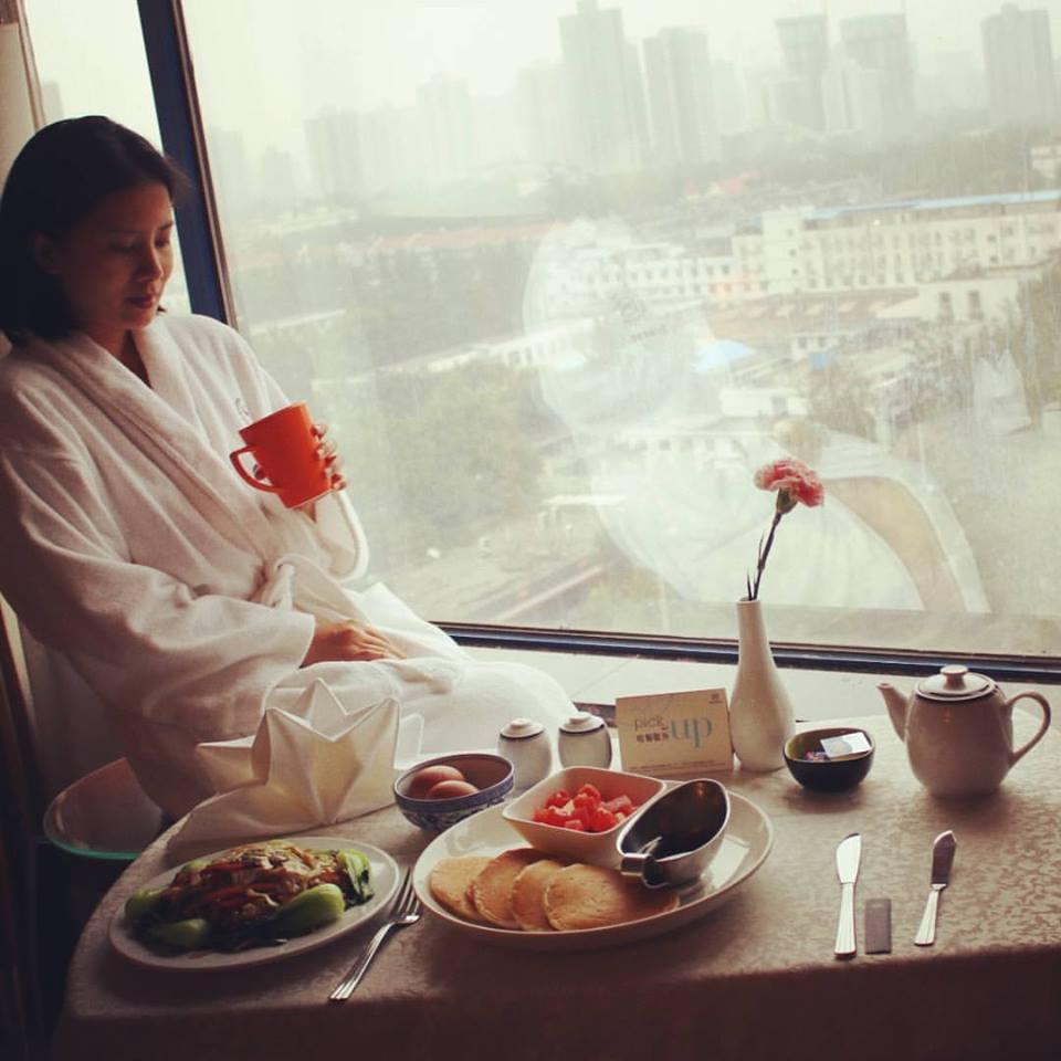 The Sheraton Xian Hotel serves hearty breakfasts