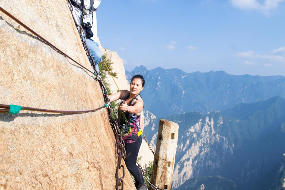 Scaling Mount HuaShan, considered to be the most dangerous hike in the world