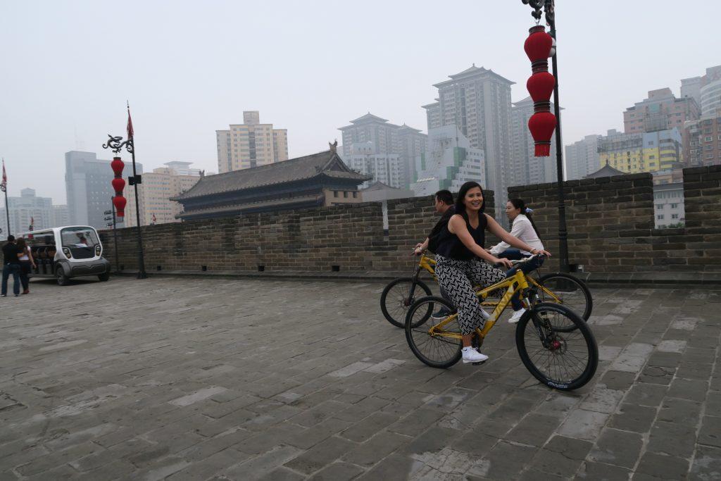 Hire a bike and explore the ancient walls of Xian