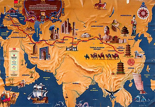 the silk road route.