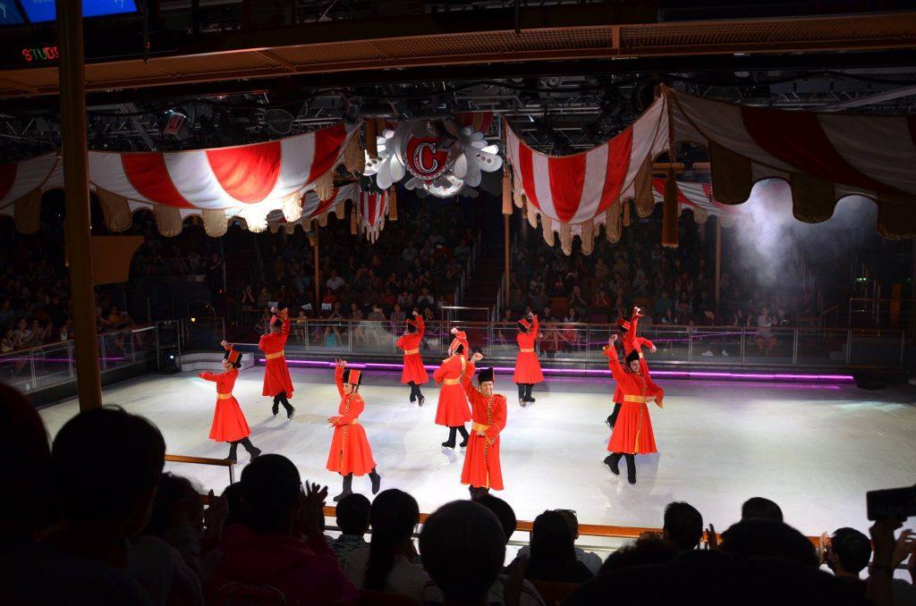 Ice skating rink inside Royal Caribbean's Mariner of the Seas. Photo by Jenny Tan