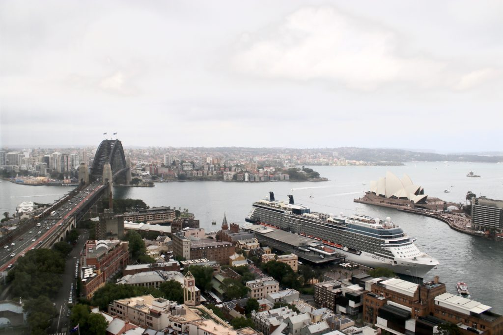 View from the Horizon Club Lounge of Shangri-la Hotel Sydney on Level 36