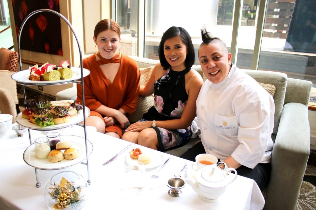 Kelsi and I with Shangri-la Sydney's celebrated Pastry Chef, Anna Polyviou