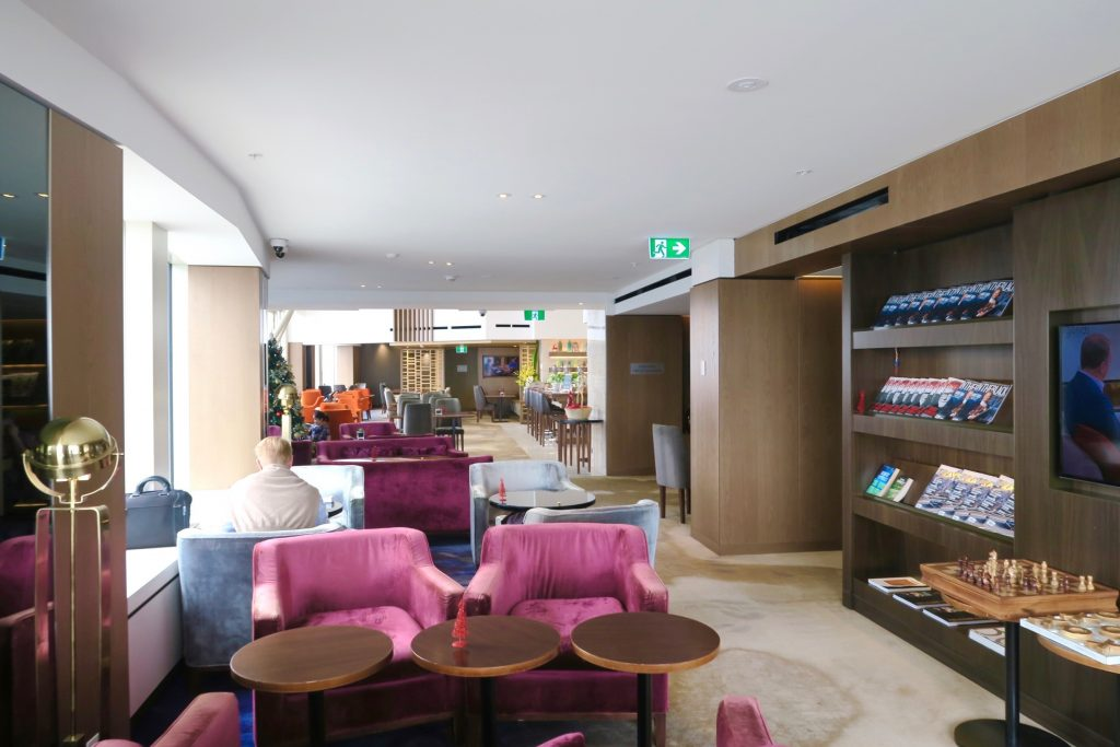 The Horizon Club Lounge at the Shangri-la Hotel Sydney