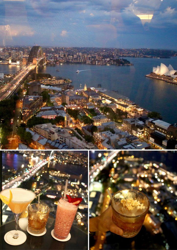 Drinks at Blu Bar 36th Level at the Shangri-la hotel Sydney