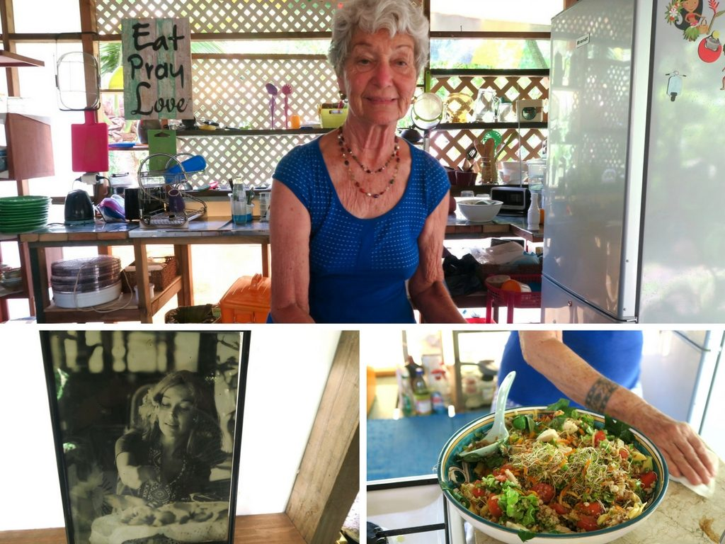 Evy Hirshon, a local Tahitian chef specialising in Vegan dishes