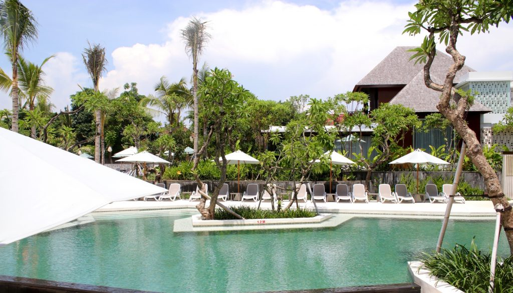 The main pool of the ANVAYA Resort Bali